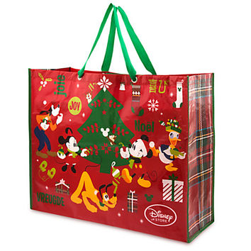 Mickey Mouse and Friends Reusable Tote - Holiday - Extra Large | Disney Store