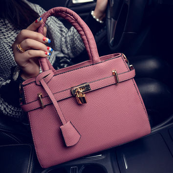 Fashion Winter Lock Shoulder Bags Stylish Tote Bag [6582805127]