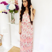 Resonance Maxi Dress- Pink