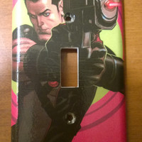 Grayson Comic Book superhero light switch cover