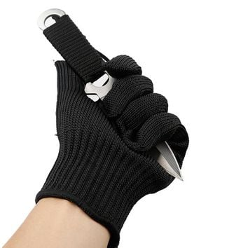 Military Grade Full Finger Anti Knife Butcher Gloves Stainless Steel Anti Cut Gloves for Fishing Hunting Fishing Accessories