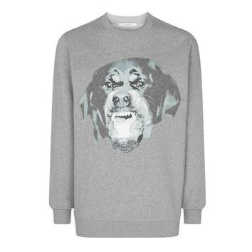 Givenchy Rottweiler Grey Cuban Sweatshirt