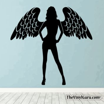 Sexy Angel Pin-Up Girl Wall Decal #00002