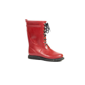 Red Ilse Jacobsen Hornbaek rub 15 rain boot /  Womens size US 10 / EU 40 / UK 8 / mid calf / rain boots