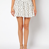 ASOS | ASOS Skater Skirt in Bird Print at ASOS