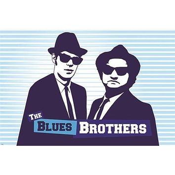 vintage movie poster THE BLUES BROTHERS belushi and aykroyd COMEDIANS 24X36