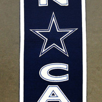 Dallas Cowboys Wool Man Cave Banner