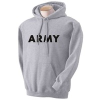 ARMY Hooded Sweatshirt in Gray