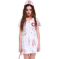 Vampire Nurse Uniforms Ghost Adult Women Doctor Doctors Halloween Costumes Cosplay 2016 Fancy Party Carnival Roleplay Costumes