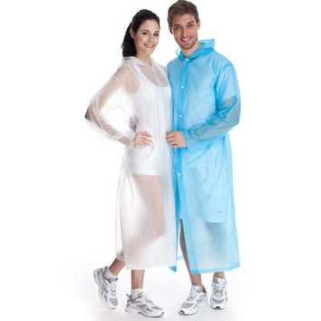Candy Color Creative High Quality PVC Unisex Rainwear Non-disposable Raincoats Portable Rainwear for Men Women XHH05619