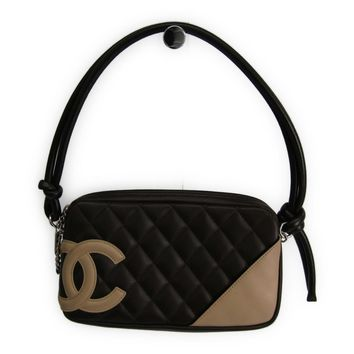 Chanel Ligne Cambon A25175 Women's Cambon Ligne Shoulder Bag Beige,Brow BF316448