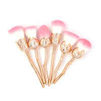 6 PCS ROSE SHAPED MAKEUP BRUSHES