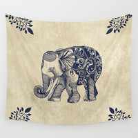 Simple Elephant Wall Tapestry by Rskinner1122