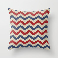 Americana Pillow WITH Insert - American Flag Pillow - Red White and Blue - Fourth of July - Patriotic Print Pillow - America Pillow