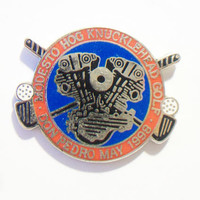 Harley Davidson Knucklehead Tournament Pin Charity Golf Modesto Don Pedro 1998 Motorcycle Club Accessories
