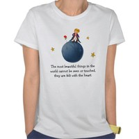 The Little Prince with Rose on the Planet B612 Tees from Zazzle.com