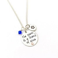 The Ocean Is A Friend Of Mine Moana Inspired Charm Necklace
