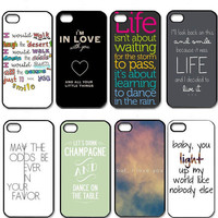 One Direction Quotes For iPhone 4 4S 5 5G 5S 5C Case Hard Plastic Back Cover