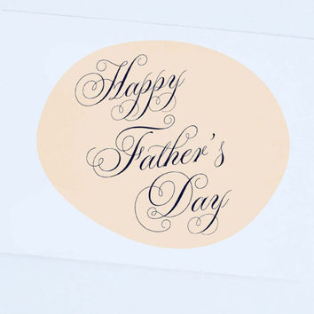 Happy Father's Day, Blank Inside, Elegant fathers day card