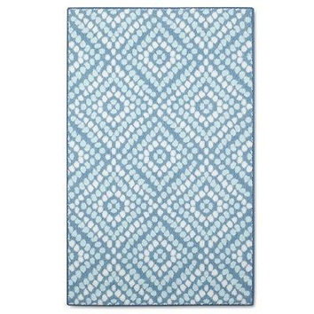 "Threshold Rg04 Printed Accent Rug - Blue (2'6""X4')"