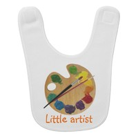 Little artist colorful palette rainbow color wheel