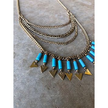 Sonora Fringed Arrow Layered Necklace