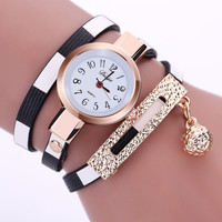 PU Leather Bracelet Watch