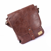 Korean Bags Casual One Shoulder PU Leather Fashion Messenger Bags [6583342535]