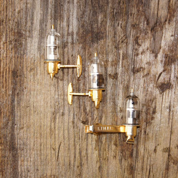 Eimac Vacuum Tube Diode Advertising Cuff links and Tie Clip