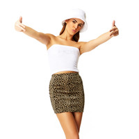 That's Hot White Cotton Silver Rhinestone One Size Tube Top