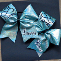 Best Friends Forever Cheer Bows Two Bow Included