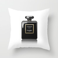 CHANEL Noir Throw Pillow by BeckiBoos | Society6
