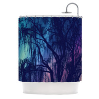 "Robin Dickinson ""Weeping"" Purple Tree Shower Curtain"