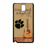 Ed Sheeran Guitar And Song Quotes Samsung Galaxy Note 3 Case