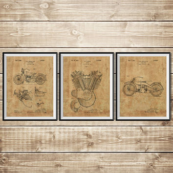 Harley Wall Decor, Patent Print Group, Harley Art Print, Mechanic Gift, Harley Wall Print, Harley Printable, Harley Poster, INSTANT DOWNLOAD