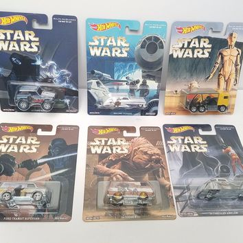NEW FALL 2016 Set Of 6 Hot Wheels Pop Culture Star Wars Ralph McQuarrie