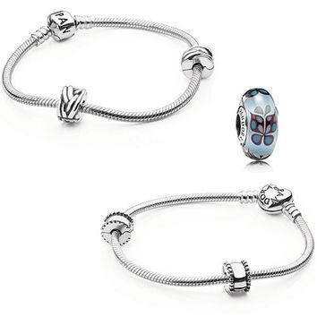 Authentic Pandora Jewelry - Iconic Bracelet Butterfly Kisses Blue (Choose Style)