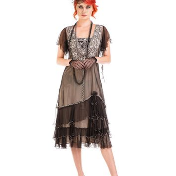 Nataya AL-283 Alexa 1920s Flapper Style Party Dress in Black