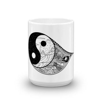Yin-Tang Goth & Tattoo Inspired Mug