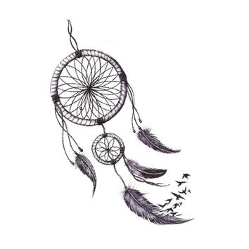 Temporary Tattoos Body Art Fake Dreamcatcher Tattoo Stickers Waterproof  Levert Dropship Y629