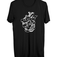 5 Seconds Of Summer Jet Black Heart Logo Mens T Shirt