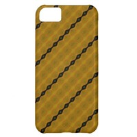 Pretty Modern Abstract Striped Black Gold Olive Cover For iPhone 5C