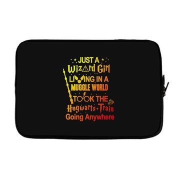 Just A Wizard Girl Living In A Muggle World Laptop sleeve
