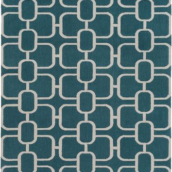 Surya Lockhart Geometric Green LKH-9005 Area Rug
