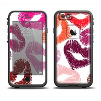 The Vector Puckered Color Lip Prints Apple iPhone 6 LifeProof Fre Case Skin Set