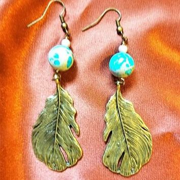 Sea Feathers Dangles