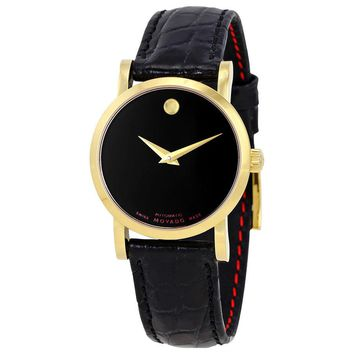 Movado Red Label Black Dial Automatic Ladies Watch 0607010