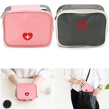 THINKTHENDO Portable Mini Travel Multi-Purpose Use Cosmetic Bag Home Survival First Aid Medical Emergency Bag Kit