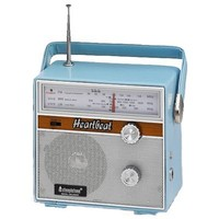 Blue Retro Portable 1960s Style Radio | Past Times