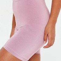 Missguided - Lilac Slinky Biker Shorts